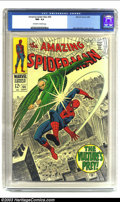 Silver Age (1956-1969):Superhero, Amazing Spider-Man #64 (Marvel, 1968) CGC NM- 9.2 Off-white to white pages. Features the Vulture; John Romita Sr. cover and ...