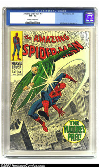 Amazing Spider-Man #64 (Marvel, 1968) CGC NM- 9.2 Off-white to white pages. Features the Vulture; John Romita Sr. cover...