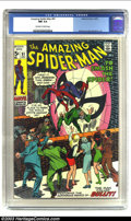Bronze Age (1970-1979):Superhero, Amazing Spider-Man #91 (Marvel, 1970) CGC NM 9.4 Off-white to white pages. Features the man called Bullit; Gil Kane and John...