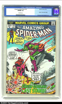 Amazing Spider-Man #122 (Marvel, 1973) CGC VF/NM 9.0 Off-white pages. Death of Green Goblin. Gil Kane and John Romita ar...