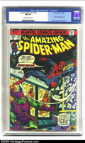 Bronze Age (1970-1979):Superhero, Amazing Spider-Man #137 (Marvel, 1974) CGC NM 9.4 Off-white to white pages. Green Goblin appearance; Gil Kane cover, Ross An...
