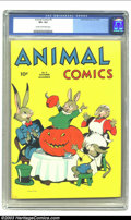 Golden Age (1938-1955):Funny Animal, Animal Comics #5 (Dell, 1943) CGC VF+ 8.5 Cream to off-white pages.Features Uncle Wiggily. Overstreet 2003 VF 8.0 value = $...