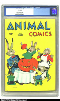 Animal Comics #5 (Dell, 1943) CGC VF+ 8.5 Cream to off-white pages. Features Uncle Wiggily. Overstreet 2003 VF 8.0 value...