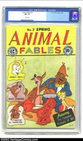 Golden Age (1938-1955):Funny Animal, Animal Fables #3 (EC, 1947) CGC FN- 5.5 White pages. Very early EC.Overstreet 2003 FN 6.0 value = $69....
