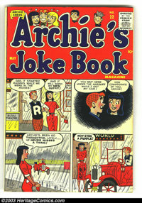 Archie Group lot (Archie, 1950). Laugh #74 Fine- and Archie's Joke Book #22 VF-. Overstreet 2003 value for group = $...