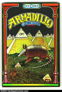 Armadillo Comics #2 First Print (Rip Off Press, 1971) Condition = VG. This great underground features an armadillo theme...