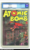 "Golden Age (1938-1955):Superhero, Atomic Bomb #1 (Jay Burtis, 1945) CGC VG/FN 5.0 Cream to off-white pages. Only issue of this title. Overstreet ""scarce"", Ger..."