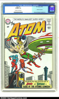 The Atom #7 (DC, 1963) CGC VF/NM 9.0 Off-white to white pages. Hawkman crossover; first Atom and Hawkman team-up; Gil Ka...