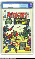 "Silver Age (1956-1969):Superhero, The Avengers #15 (Marvel, 1965) CGC VF+ 8.5 Off-white pages. ""Death"" of original Baron Zemo; Kirby and Heck cover and art. O..."
