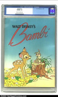Bambi nn (K. K. Publications, Inc., 1941) CGC VF/NM 9.0 Cream to off-white pages. This is the highest graded copy of thi...
