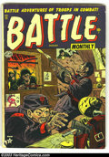 Golden Age (1938-1955):War, Battle #11, 13, and 14 (Marvel, 1952) Condition: GD/VG. Three excellent reading copies. Overstreet 2003 value for group = $5... (Total: 3 Comic Books Item)