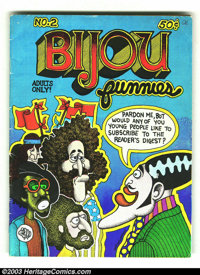 Bijou Funnies #2 First Print (Print Mint, 1969) Condition = GD/VG. This is issue #2 of one of the most influential under...