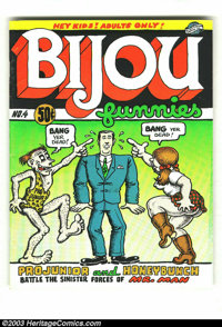 Bijou Funnies #4 First Print (Print Mint, 1970) Condition = VG+. This great underground features work by Robert Crumb, J...