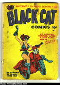 Golden Age (1938-1955):Superhero, Black Cat #1 (Harvey, 1946) Condition: GD+. Joe Simon cover, Joe Kubert art. Overstreet 2003 GD 2.0 value = $70....