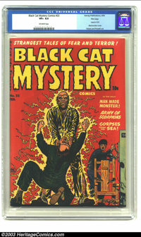 Black Cat Mystery #33 File Copy (Harvey, 1952) CGC VF+ 8.5 Off-white pages. Used in Parade of Pleasure. Electrocution co...