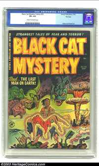Black Cat Mystery #35 File Copy (Harvey, 1952) CGC VF+ 8.5 Cream to off-white pages. Atomic disaster cover and story. Pa...