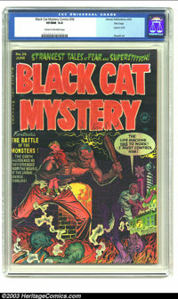 Black Cat Mystery #36 File Copy (Harvey, 1952) CGC VF/NM 9.0 Cream to off-white pages. Used in Seduction of the Innocent...