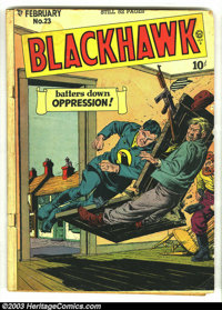 Blackhawk Issues Group (DC, 1949-1950). Blackhawk issues #23 from 1949 and #30 from 1950, both in GD+ 2.5 condition. Ove...