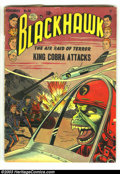 Golden Age (1938-1955):Adventure, Blackhawk Issues Group (DC, 1952-1953). Three issues of Blackhawk, #58 - #60, all in GD 2.0 condition. Overstreet 2003 value...