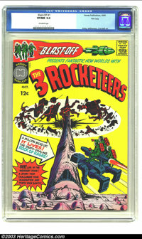 Blast-Off #1 File Copy (Harvey, 1965) CGC VF/NM 9.0 Off-white pages. Features the 3 Rocketeers; Jack Kirby, Williamson...