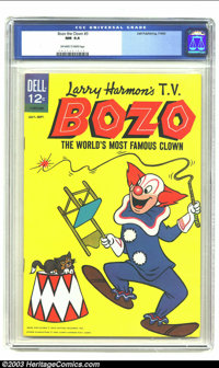 Bozo the Clown #3 (Dell, 1963) CGC NM 9.4 Off-white to white pages. Overstreet 2003 NM 9.4 value = $65