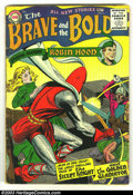 Silver Age (1956-1969):Adventure, The Brave and the Bold #6 (DC, 1956) Condition: VG. Silent Knight; Golden Gladiator; Robin Hood. Overstreet 2003 VG 4.0 valu...