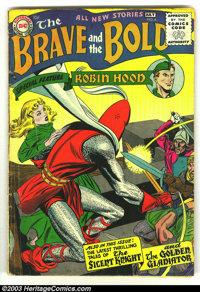 The Brave and the Bold #6 (DC, 1956) Condition: VG. Silent Knight; Golden Gladiator; Robin Hood. Overstreet 2003 VG 4.0...