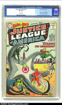 The Brave and the Bold #28 (DC, 1960) CGC VG 4.0 Cream pages. Origin and first appearance of the Justice League of Ameri...