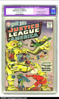 The Brave and the Bold #29 (DC, 1960) CGC Apparent VG+ 4.5 Slight (A) Cream to off-white pages. Second appearance of the...