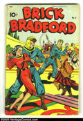 Golden Age (1938-1955):Science Fiction, Brick Bradford #5 of #6 (Best Books, 1948) Condition: VG-. Overstreet says that issue #6 might be a Schomburg cover, and we ... (Total: 2 Comic Books Item)