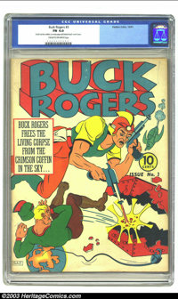 "Buck Rogers #3 (Eastern Color, 1941) CGC FN 6.0 Cream to off-white pages. CGC notes, ""Small number written on every..."
