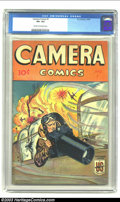 Golden Age (1938-1955):Adventure, Camera Comics #1 (U.S. Camera/ME, 1944) CGC VF+ 8.5 Cream to off-white pages. Somewhat obscure title from one of the smaller...