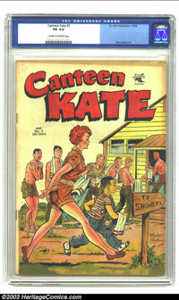 Canteen Kate #3 (St. John, 1952) CGC VG 4.0 Cream to off-white pages. Matt Baker cover and art. Cited in Parade of Pleas...