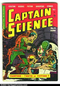 Captain Science #4 (Youthful Magazines, 1951) Condition: VG+. Wally Wood and Joe Orlando artwork in this Science Fiction...