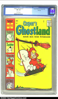 Casper's Ghostland #1 File Copy (Harvey, 1958) CGC FN+ 6.5 Off-white pages. Giant-size 84-pager with Casper, Spooky, Wen...