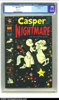 Casper and Nightmare #23 File Copy (Harvey, 1969) CGC NM- 9.2 Off-white pages. Features Casper, Nightmare, Spooky, Wendy...