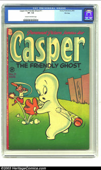 Casper the Friendly Ghost #11 File Copy (Harvey, 1953) CGC VF- 7.5 Cream to off-white pages. Currently the only copy of...