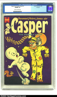 Casper the Friendly Ghost #12 File Copy (Harvey, 1953) CGC VF/NM 9.0 Cream to off-white pages. High-grade file copy is t...