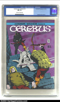 Cerebus #12 (Aardvark-Vanaheim, 1979) CGC NM 9.4 Off-white to white pages. Dave Sim story and art. Overstreet 2003 NM 9...