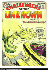 Challengers of the Unknown #2 (DC, 1958) Condition: VG-. Classic second issue with Jack Kirby artwork. Overstreet 2003 V...