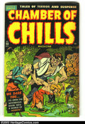 Golden Age (1938-1955):Horror, Chamber of Chills 23 (#3) (Harvey, 1951) Condition: VG. Excessive violence; eyes torn out. Really cool Harvey Pre-code horro...