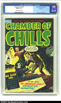 Golden Age (1938-1955):Horror, Chamber of Chills #5 File Copy (Harvey, 1952) CGC FN/VF 7.0 Creamto off-white pages. As is characteristic with several othe...