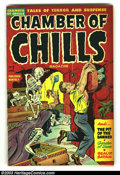 Golden Age (1938-1955):Horror, Chamber of Chills #7 (Harvey, 1952) Condition: FN. Used in Seduction of the Innocent, decapitation/severed head panels. Real...
