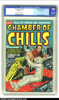 Chamber of Chills #8 File Copy (Harvey, 1952) CGC FN+ 6.5 Light tan to off-white pages. Classic Golden Age Harvey horror...