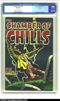 Chamber of Chills #17 File Copy (Harvey, 1953) CGC VF 8.0 Cream to off-white pages. Harvey Golden Age horror comic; Lee...