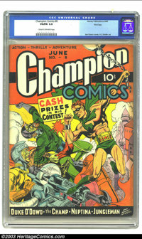 Champion Comics #8 File Copy (Harvey, 1940) CGC VG/FN 5.0 Cream to off-white pages. Joe Simon cover, H. C. Kiefer art; f...