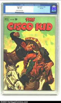 The Cisco Kid #4 File copy (Dell, 1951) CGC NM 9.4 Cream to off-white pages. Cisco Kid, and his horse Diablo; painted co...