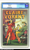 Golden Age (1938-1955):Crime, Claire Voyant #2 (Leader Enterprises, 1946) CGC VF/NM 9.0 Cream to off-white pages. A dramatic and sexy cover by Jack Kamen ...