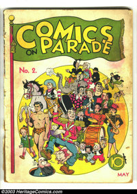 Comics On Parade #2 (United Features Syndicate, 1938) Condition: PR. Tarzan, Li'l Abner, Nancy, Fritzi Ritz, Captain and...