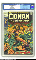 Bronze Age (1970-1979):Miscellaneous, Conan The Barbarian #1 (Marvel, 1970) CGC NM 9.4 Off-white to white pages. Origin and first appearance of Conan by Barry Smi...